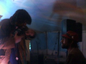 Callum & Liam on sound at the Sarita Stage