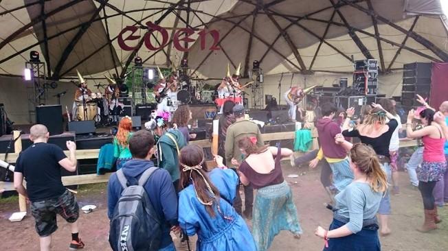 Back on it to King Lagoon's Flying Swordfish Dance band
