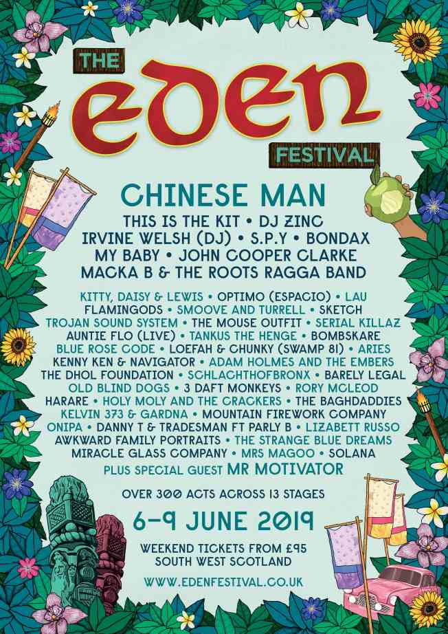 Final Headliners Eden 2019
